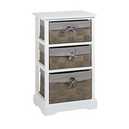 Sara 3-Basket Storage Cabinet with Lining view 1