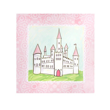 "20"" Pink Castle Canvas Wall Decor view 1"