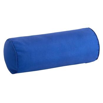 Solid Cobalt Indoor/Outdoor Lumbar Roll Pillow