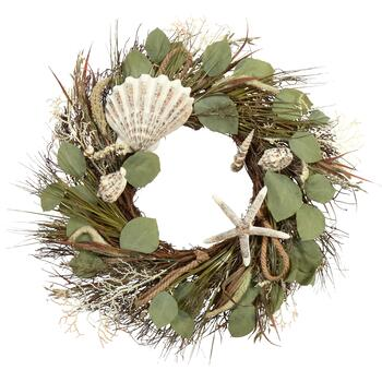 "22"" Coastal Icons Leaf Wreath"