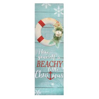 """Have Yourself a Beachy Little Christmas"" Canvas Wall Decor"