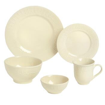 Pfaltzgraff® Amelia Cream Dinnerware Set, 20-Piece