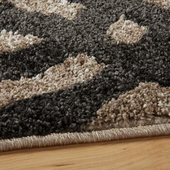 5'x7' Brown/Black Strato Geometric Area Rug view 2