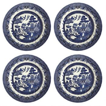 Blue Willow Imperial Dinner Plates, Set of 4