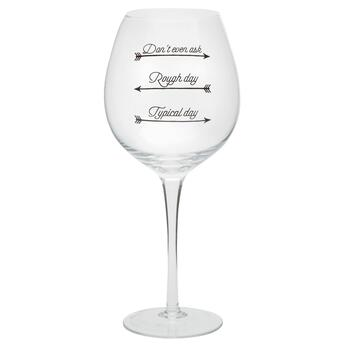 """Wine-O-Meter"" Oversized Wine Glass"