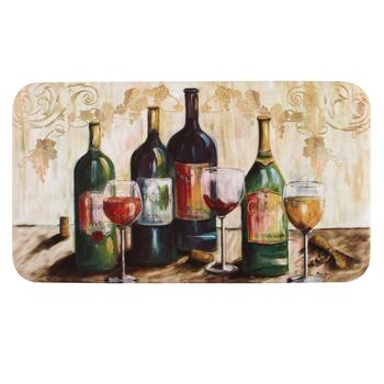 Assorted Wines Cushioned Floor Mat