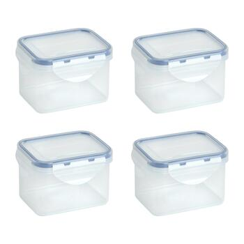 16.7-Oz. Locking Lid Rectangular Plastic Storage Containers, Set of 4