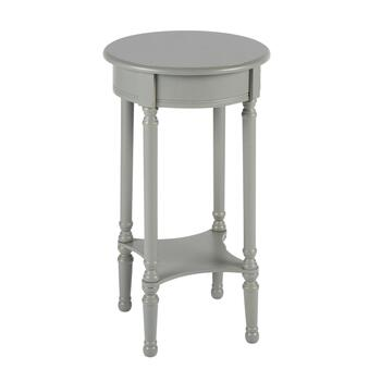 "26"" Hourglass Legs Round Accent Table"