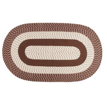 "2'4"" x 4' Braided Oval Indoor Area Rug"