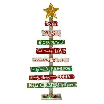 "40"" ""The Magic of Christmas"" LED Tree Decor"