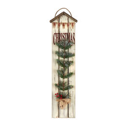 "36"" ""Merry Christmas"" Tree Wood Plank Wall Decor view 1"