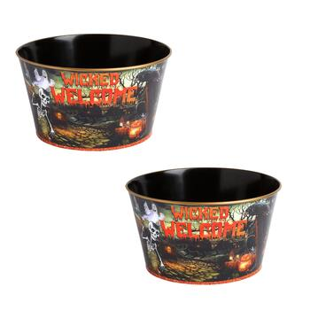 """Wicked Welcome"" Candy Buckets, Set of 2"