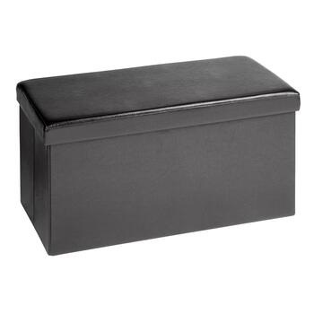 Pleasant 30 Faux Leather Folding Storage Bench Andrewgaddart Wooden Chair Designs For Living Room Andrewgaddartcom