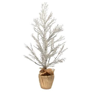 "36"" Lighted Ice Crystal Artificial Tabletop Tree"