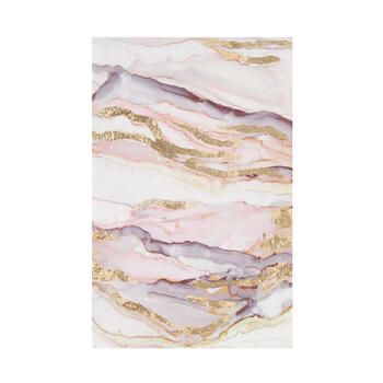 "16""x24"" Purple/Gold Marbleized Canvas Wall Art view 1"