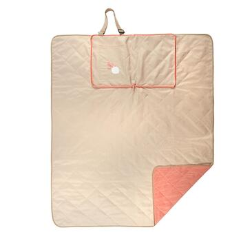 "50""x60"" Coral and Sand Dollar Indoor/Outdoor Convertible Beach Blanket Tote view 2"