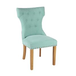 "38.5"" Tufted Parson's Chair with Nailheads"