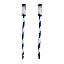 "39.5"" Stars & Stripes Cylinder Solar Yard Stakes, Set of 2 view 1"