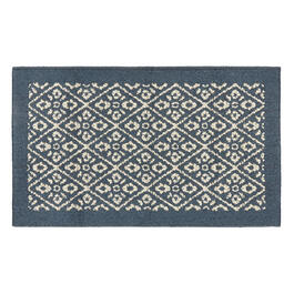 Blue/White Diamond Accent Rug view 1