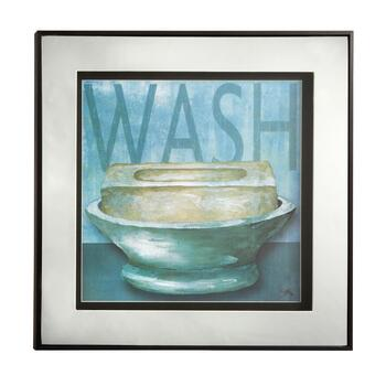 "16"" Mirrored Frame ""Wash"" Wall Decor"