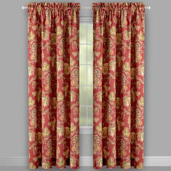 Traditions by Waverly® Tennyson Paisley Window Curtains, Set of 2