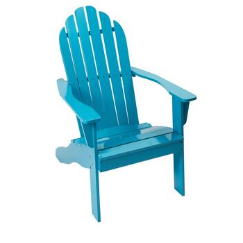 Turquoise Solid Slatted Adirondack Chair