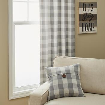 Buffalo Check Window Curtains and Decorative Pillows