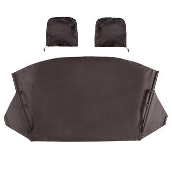 Black Windshield and Mirror Vehicle Cover Set