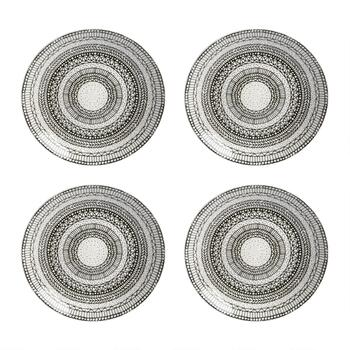 "8"" Digital Geometric Salad Plates, Set of 4"