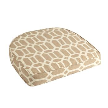 Beige Lattice Indoor/Outdoor Gusseted Seat Pad