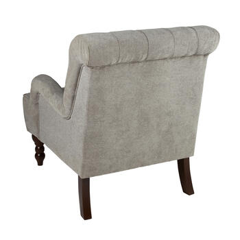 Gray Tufted Arm Chair view 2