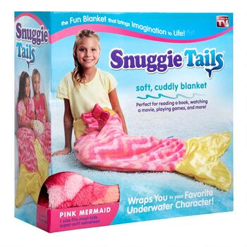 As Seen on TV Pink Mermaid Snuggie® Tails™