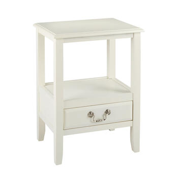 Anne White 1-Drawer End Table view 1