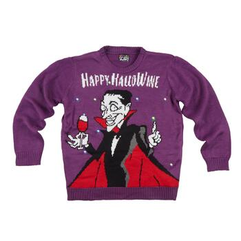 """Happy Halloween"" Vampire LED Ugly Sweater"