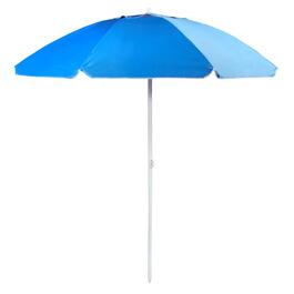7' Blue with White Trim Beach Umbrella