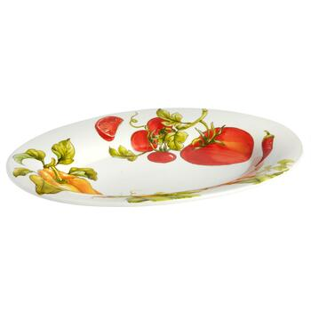 Italiano Vegetables Oval Ceramic Serving Platter