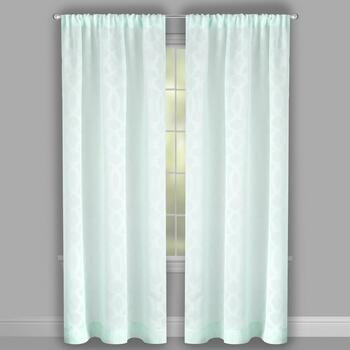 Perfect Window Light Blue Geometric Window Curtains, Set of 2 view 2