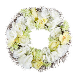 "22"" Branch and Blossom Wreath view 1"