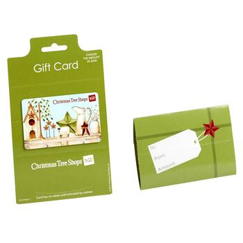 Give a new gift card - Give A New Gift Card - Christmas Tree Shops And That!