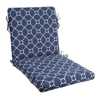 Nautical Knots Indoor/Outdoor Hinged Chair Pad