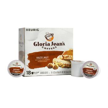 Keurig® Gloria Jean's Hazelnut Coffee Pods, 4-Boxes