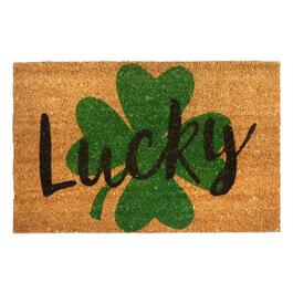 """Lucky"" Shamrock Coir Door Mat"