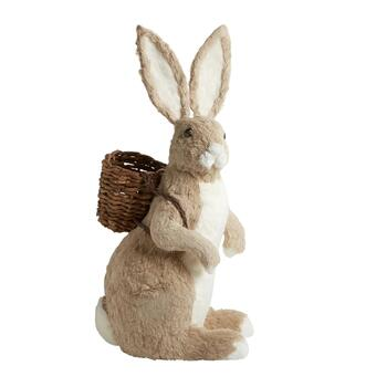 "35"" Brown Bunny with Twig Basket Backpack"