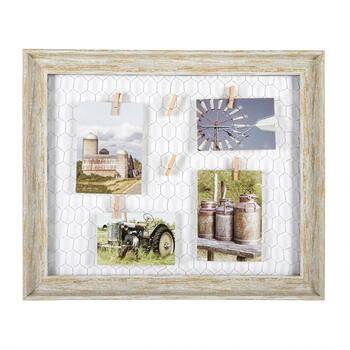 "The Grainhouse™ 16""x20"" Photo Clip Chickenwire/Wood Wall Decor"