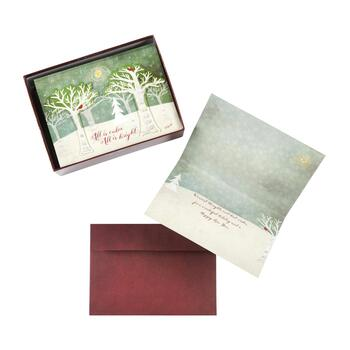 """All is Bright"" Handmade Cards, 20-Count"