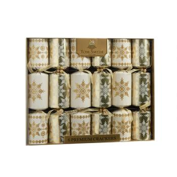 Premium Christmas Crackers, Set of 6