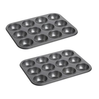 Nonstick 12-Cup Muffin Pans, Set of 2