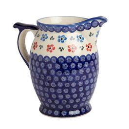 90-oz. Blue Floral Ceramic Pitcher