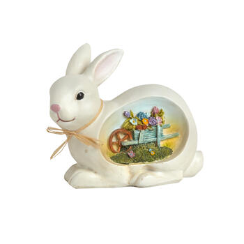 "8.5"" Bunny with Etched Flowers Scene view 1"