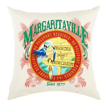 """Margaritaville State of Mind"" All-Weather Throw Pillow view 2"